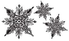 *Tim Holtz Rubber Stamp SNOWFLAKES Stampers Anonymous P5-1260