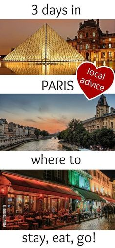 """spend 3 days in Paris and see the highlights of the french capital with our Paris itineraries. Get a detailed """"What to see in Paris in 3 days"""" trip plan written by locals. Know where to to stay, where to eat and what to do in Paris in 3 days. Plus: offbe Edinburgh, Glasgow, Paris Travel Tips, Europe Travel Tips, Travel Destinations, Versailles, Three Days In Paris, Rio Sena, Dublin"""