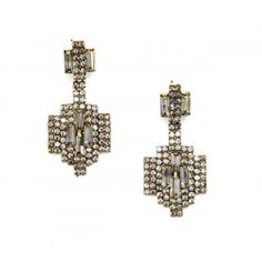 Oh my heavens! Absolutely Love! Deco Drop Earring  - Crystal