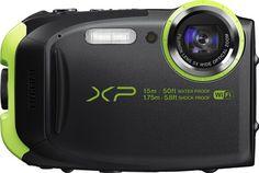 Fujifilm FinePix Waterproof Digital Camera with Optical Zoom - Grey/ Green Black Gopro, Best Underwater Camera, Best Waterproof Camera, Fuji Finepix, Cameras Nikon, Best Digital Camera, Digital Cameras, Camera Deals, Outdoor Camera