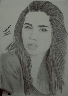 Mahira Khan Sketch www.Instagram.com/lunatic_sketcher