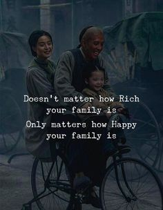 Positive Quotes : Doesnt matter how rich your family is Only matters how happy your family is. - Hall Of Quotes Best Inspirational Quotes, Wise Quotes, Motivational Quotes, Happy New Year Quotes, Quotes About New Year, Life Is Too Short Quotes, Gentleman Quotes, Quote Of The Week, Reality Quotes