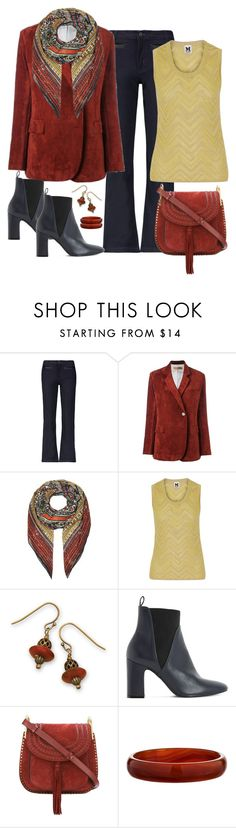 """""""Golden Goose Corduroy Blazer Look"""" by romaboots-1 ❤ liked on Polyvore featuring Karl Lagerfeld, Golden Goose, Valentino, M Missoni, BillyTheTree, Dune and Chloé"""