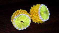 3D origami lemon (tutorial, instructions)