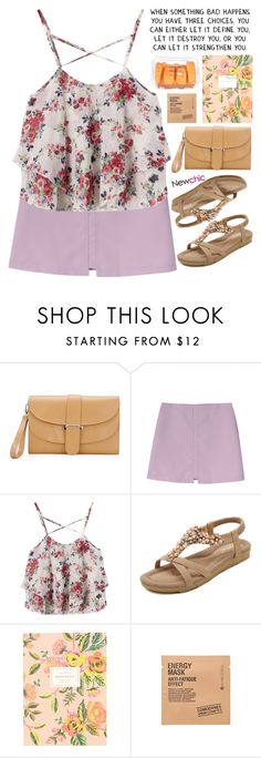 """""""void // NewChic Style"""" by scarlett-morwenna ❤ liked on Polyvore featuring Rifle Paper Co, Comodynes and vintage"""