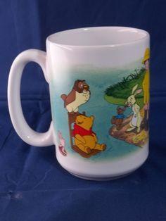 Disney Winnie Pooh Mug Shows Whole Gang by the Water