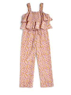 Sonia Rykiel Enfant Girl's Floral Overalls $165