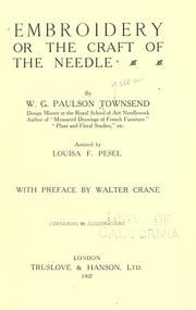 Cover of: Embroidery by W. G. Paulson Townsend