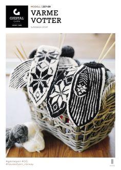 Dagens gratisoppskrift: Varme votter Knitting Charts, Free Knitting, Mitten Gloves, Mittens, Scandinavian, Free Pattern, Diy And Crafts, Scarfs, Socks