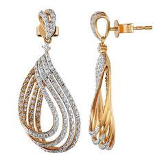 14k Rose Gold Diamond Earrings - jewelryo2o.com
