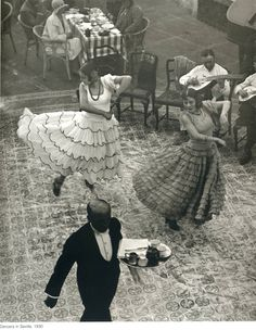 Dancers in Seville, Spain (1930) byMartin Munkácsi (Hungarian, 1896-1963). Photograph.Gelatin silver print. San Francisco Museum of Modern A...