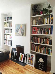 Bookshelves. eat pray bake: Just chilling...