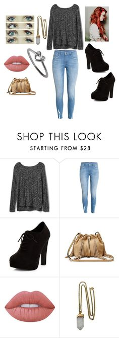 """""""Untitled #169"""" by savanah-nguyen ❤ liked on Polyvore featuring Gap, H&M, New Look, Diane Von Furstenberg, Lime Crime and Lacey Ryan"""