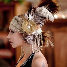 (for more happy healthy humorous hoopspiration please check… Danza Tribal, Tribal Belly Dance, Dance Hairstyles, Head Accessories, Belly Dance Costumes, Tribal Fusion, Feathered Hairstyles, Headgear, Headdress