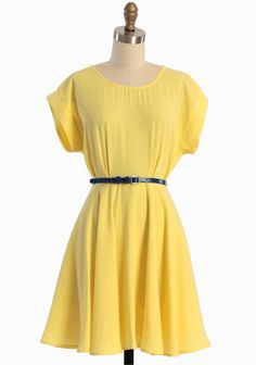 Shining Star Belted Dress | Modern Vintage Dresses- I am so loving the flow of this dress!