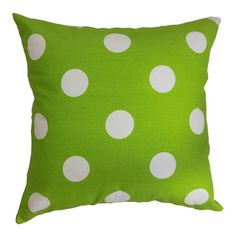 Cotton polka dot pillow. Made in the USA.   Product: PillowConstruction Material: Cotton and down fillColo...