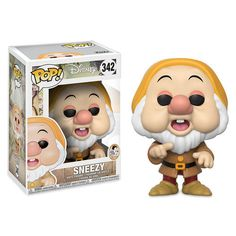 If you're looking to add to your collection, maybe A-CHOOse this charming Pop! vinyl figure featuring Sneezy, the allergy-ridden member of the seven dwarfs. Disney Pop, Walt Disney, Disney Pixar, Figurine Disney, Pop Figurine, Funk Pop, Pop Vinyl Figures, Pokemon Go, Ian Livingstone
