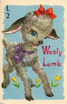 Wooly Lamb Rummy Cards...we had so much fun playing rummy...