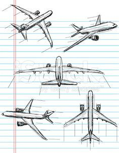 airplane sketch illustration - Google Search                                                                                                                                                     More