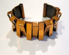 Vintage Copper Cuff  Geometric Angular Textural Design by dovetailchicago, $60.00 -SOLD!