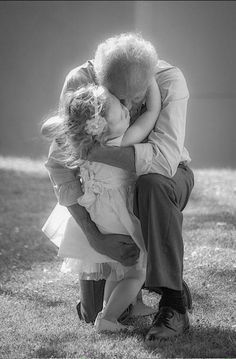 Black and white photography / Have You Hugged a Child Today? Grandma And Grandpa, Foto Art, Precious Moments, Beautiful Children, Belle Photo, Grandparents, Black And White Photography, Cute Kids, Beautiful Pictures