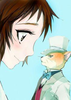Neko no Ongaeshi (The Cat Returns ) Mobile Wallpaper - Zerochan Anime Image Board Hayao Miyazaki, Studio Ghibli Art, Studio Ghibli Movies, Gato Anime, Manga Anime, Fanart, Totoro, The Cat Returns Baron, Neko