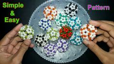 How To Make Beaded Ball   Simple And Easy Pattern   Beads Ball   Soccer Ball   Beads Craft Ideas - YouTube