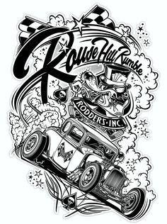 "Logo ""Rodders Inc.""  & T-Shirt Design ""Rouse Hill Rumble"" - Australie - Copyright David Vicente © 2014."