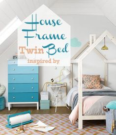 House Frame Twin Bed Building Plan (Remodelaholic) & full size bed tent for boys diy: 12 Fascinating Full Size Bed ...