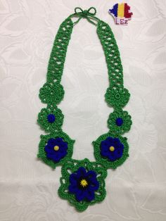 Crochet Necklace, Jewelry, Color Sheets, Colors, Jewlery, Crochet Collar, Jewels, Jewerly, Jewelery