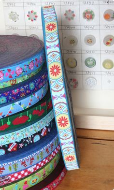 Cute woven ribbon for retro sewing projects