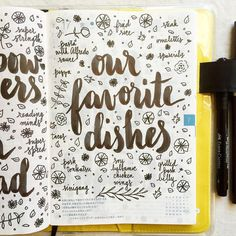 Our Favorite Dishes Page