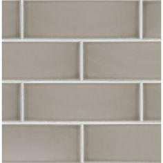 """Bedrosians Grace 4"""" x 12"""" Ceramic Subway Tile in Grigio"""