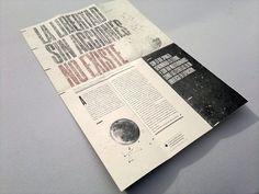 """Pieza experimental desplegable, sobre el capitulo """"El infinito, ahora"""" del libro """"Con la esperanza entre los dientes"""" de John Berger. Esquicio realizado para la materia Diseño Editorial -  FADU - UBA."""