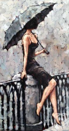 Гунин Александр. Девушка под зонтом
