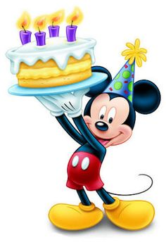 Mickey Mouse With Gifts Wish You A Happy Birthday On Your Special Mickey Mouse Wishing Happy Birthday