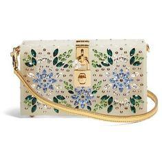 Dolce & Gabbana Crystal-embellished box clutch