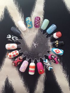 Cnd shellac nail art designs | Nails done by me ...