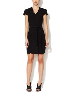 Asia Notched Neck Belted Dress from Cynthia Steffe on Gilt