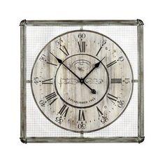 Cooper Classics Bartow Analog Square Indoor Wall Standard Clock 40348