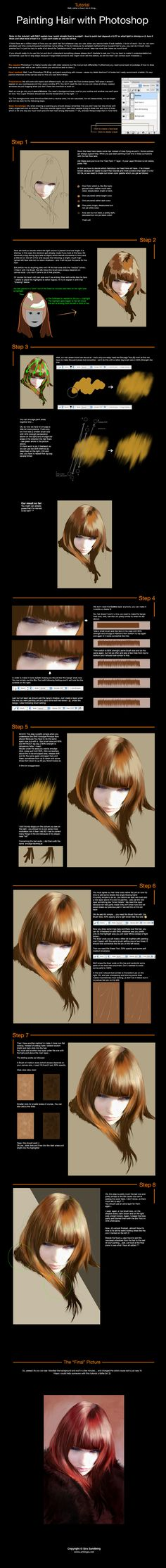 Photoshop___Painting_Hair_by_sirasan.jpg (900×8500) via PinCG.com
