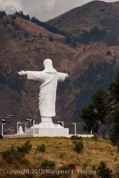 Cristo Blanco on Hill Above Cusco, Peru