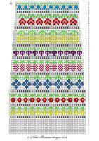 Taimitarha: Taimitarhan Kukkasukat Fair Isle Knitting, Knitting Socks, Hand Knitting, Knitting Patterns, Cross Stitch Borders, Cross Stitch Charts, Counted Cross Stitch Patterns, Fair Isle Pattern, Paper Embroidery