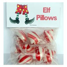 Our Christmas Elf Pillow treat topper will fit a treat bag found at local hobby shops. These are great to fill with holiday candy or treats. Christmas Party Favors, Christmas Bags, Christmas Candy, Christmas Treats, Christmas Holidays, Christmas Goodies, Christmas 2017, Christmas Decorations, Christmas Ornaments