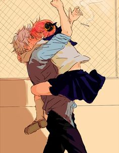 Discovered by Nel. Find images and videos about gintama, kagura and gin on We Heart It - the app to get lost in what you love. Manga Couple, Anime Love Couple, Cute Anime Couples, Anime Guys, Manga Anime, Gintama, Manga Love, Demon Slayer, Cute Cartoon Wallpapers