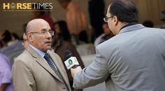 Dr. Salah Helal, President of the EAO, being interviewed.