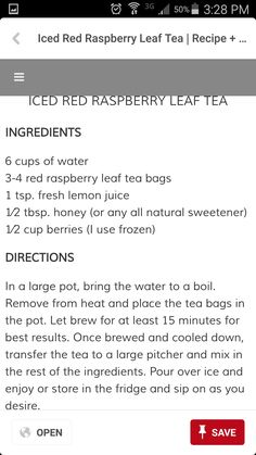 Red Raspberry Leaf, March Baby, Iced Tea Recipes, Beverages, Drinks, Fresh Lemon Juice, How To Plan, How To Make, Drinking