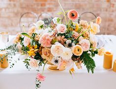 Industrial Golden Wedding Inspiration - Inspired By This