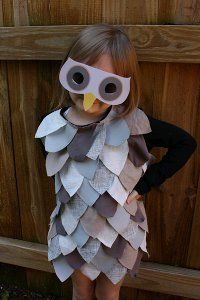 Last Minute Kids' Owl Costume | AllFreeSewing.com   this would be a pretty good adult last minute costume too!