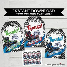 ★ ROLLER BLADE THANK YOU TAGS / FAVOR TAGS INSTANT DOWNLOAD ★ ★ DIGITAL FILE ONLY SUPPLIED - NO ITEM WILL BE SHIPPED ★ How INSTANT DOWNLOAD works: Once payment clears you will need to download the file through the Etsy website here: https://www.etsy.com/your/purchases See